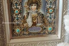 Образа в каменьях Святая Ольга вышитая икона