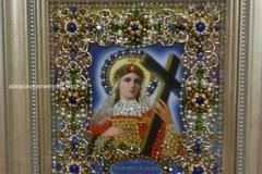 Образа в каменьях Святая Елена вышитая икона