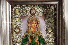 Образа в каменьях Святая Надежда вышитая икона