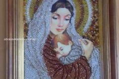 Дева Мария вышитая работа