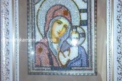 Образа в каменьях икона Казанская Божия Матерь фото готовой работы