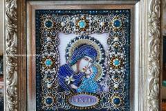 Образа в каменьях икона Святая Анна готовая работа