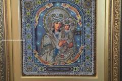 Образа в каменьях икона Споручница грешных ВЫШИТАЯ РАБОТА
