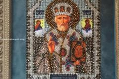Николай Чудотворец Образа в каменьях - готовая рабоата
