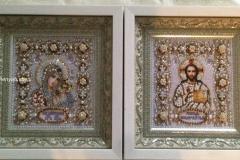 Венчальная пара Казанская Божия Матерь и Господь Вседержитель