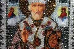 Николай Чудотворец фото вышитой иконы