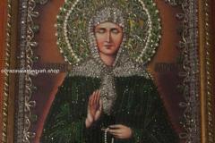 Образа в каменьях икона Святая Матрона вышитая икона