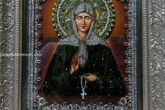 Образа в каменьях икона Святая Матрона фото готовой работы