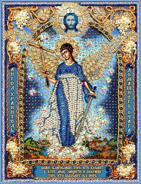 Ангел-хранитель домашнего очага с натуральным жемчугом