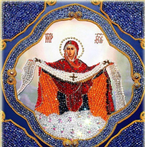 Образа в каменьях икона Покрова Пресвятой Богородицы
