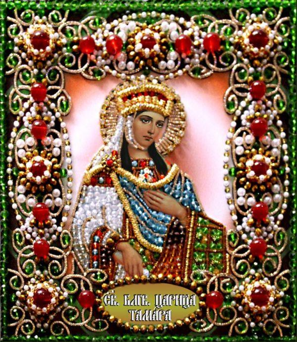 Образа в каменьях икона Святая Тамара арт. 77-и-14