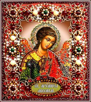 Образа в каменьях икона Святой Архангел Михаил