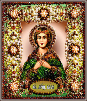 Образа в каменьях икона Святая Вера