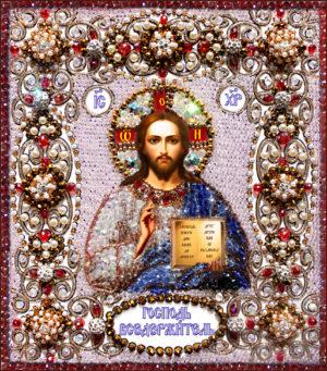 Образа в каменьях икона Вседержитель арт. 77-ц-03