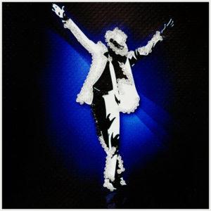 Образа в каменьях магнит Майкл Джексон арт. М-24