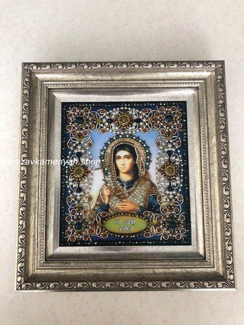 Образа в каменьях икона Святая Раиса фото готовой работы