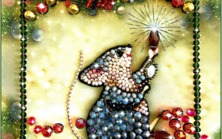 Образа в каменьях Мышка Соберушка арт. 5542