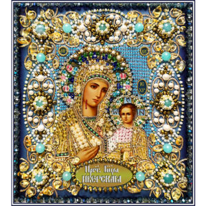 Образа в каменьях икона Богородица Иверская арт. 77-ц-12