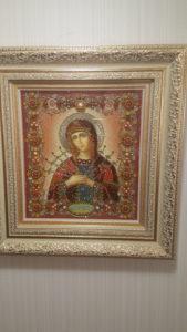 Богородица Семистрельная вышитая икона