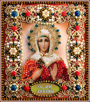 Образа в каменьях икона Святая Алевтина арт. 77-И-23