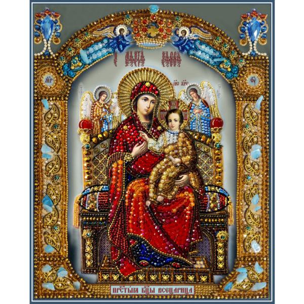 Образа в каменьях Икона Божией Матери Всецарица арт. 7763